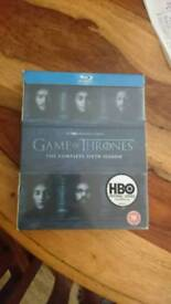 Brand new Game of Thrones series six on blu ray
