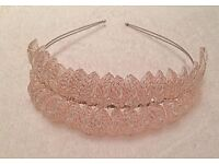 Beautiful Custom Made Handspun Blush Tiara by ValletteAccessories