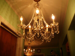 chndlier lustre 5x vtg/1940 22x21 style Louis XVI cristal&bronze