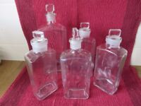 5 Vintage Pharmacy Bottles