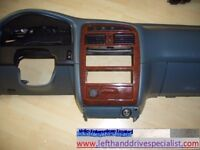 Left hand drive dashboard, bracket and trim Toyota Avensis T22 1997 - 2003 LHD conversion part