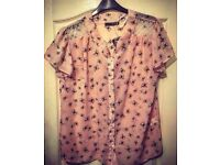 Pink Ladies Blouse - BRAND NEW - Size 14