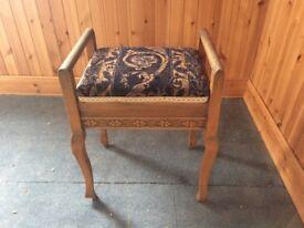 Piano stool, wooden decorative.