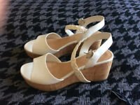 White Sandals/Wedges - M&S - 7.5