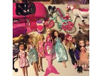 Job lot barbie dolls, car, bike, bratz, monster high, clothes. Huge bundle