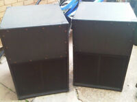 pair of bass bins / subwoofers