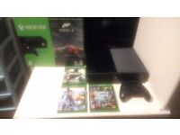 Xbox one 500 GB Bundle Boxed with Cod Infinate warfare legacy edition, gta 5, bf4
