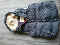 For sale Navy fake fur lined sleeveless jacket