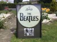 BEATLES VERY RARE BASS DRUM-SKIN! IT CAME FROM AN AMERICA BEATLES EXHIBITION DURING THE 1980's