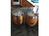 Vintage Biscuit Barrels