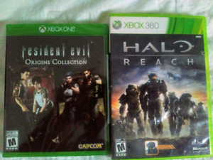 Resident Evil origins collections neuf et halo reach xbox360