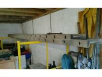 Aluminium ladders double run,extendable to 8 meters