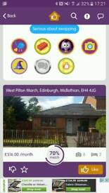 Adapted bungalow Edinburgh for non adapted house.