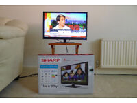 """TV Sharp AQUOS 22"""" LED HD 1080p 1920x1080 TV/DVD Combi with Freeview Saorview HD Lc-22dfe4011k"""