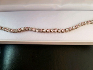 Clear and pink bracelet