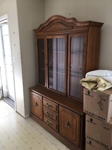 Buffet and hutch. Solid wood