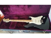 Squier standard series stratocaster and hard case