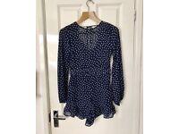 H&M New With Tags Polka Dot Summer Playsuit 6 8 10 kitsch topshop zara dress vintage rockabilly