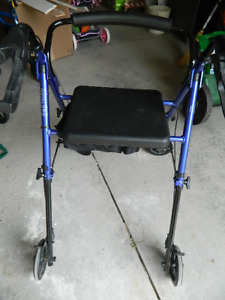 Hugo Fit Rollator Walker with Padded Seat, Backrest and Storage