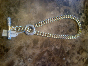 Gorgeous brand new gold and crystal necklace