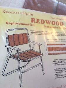 California Redwood Cedar Chair Replacement Kit