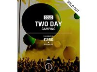 Creamfields Gold 2 day camping tickets x4