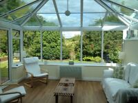Glass roof conservatory 462 x 406 cm