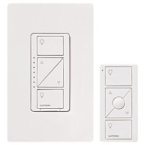 Lutron P-PKG1W-WH-C 600-Watt Wall Dimmer with Remote Control