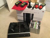 PlayStation 3 PS3 with games buzz quiz game controllers