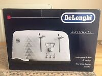 BRAND NEW UNOPENED DELONGHI DIAMOND TOASTER IN WHITE