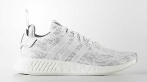 Adidas NMD R2 Womens in White/Grey at Size 5.5