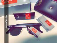 Best rayban clubmaster aviator wayfarer men's women's sunglasses matte matt black gold new box bag
