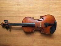 1/2 size Rudoulf Doetsch 701 Stradivari Violin and case.