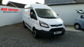 2014 FORD TRANSIT CUSTOM 2.2TDCi 270 eco-TECH,HIGH-TOP,ONLY 64000 MILES WITH FSH