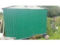 8Ft X 10 Ft metal shed, with base