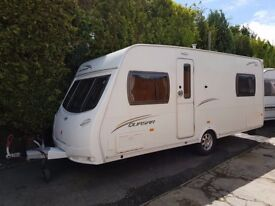 Lunar Quasar 534 4 berth caravan 2011 ,FIXED BED, MOTOR MOVER, Awning, BARGAIN !