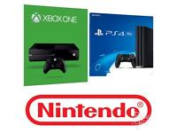 Xbox one, playstation 4, Nintendo bought for cash. Instant cash available