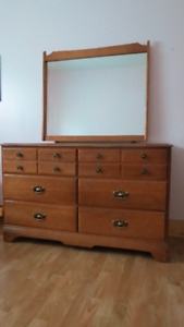 Large dresser with mirror for sale