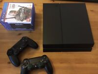 Used Playstation 4 (PS4) 1 TB 2 Controllers 6 Games