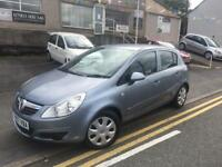 2007 07 new shape Vauxhall Corsa 1.2 club, 5 door long mot