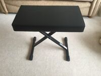 Black faux leather piano/keyboard stool