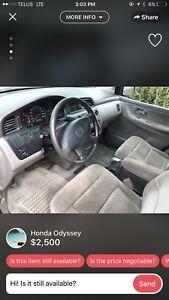 Selling my Honda Odyssey
