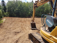 Excavator and operator for rent