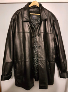 Men's 2XL Tall Leather Lined Jacket
