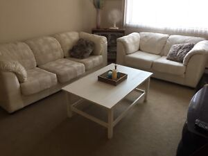 Couches and coffee table
