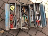 Cantilever tool box and miscellaneous tools