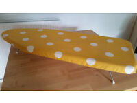 Table top ironing board from Wilko in yellow