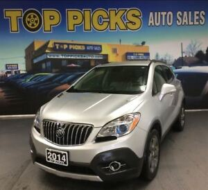 2014 Buick Encore LEATHER, UPGRADED WHEELS, LOW KMS, CLEAN CARPR