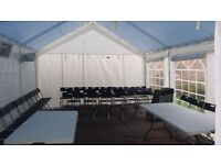 Marquee/Tent/Gazebo hire from £150 plus. Folding Chair hire £1