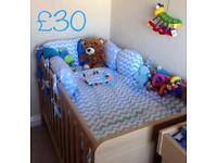Beautiful cot bed bedding